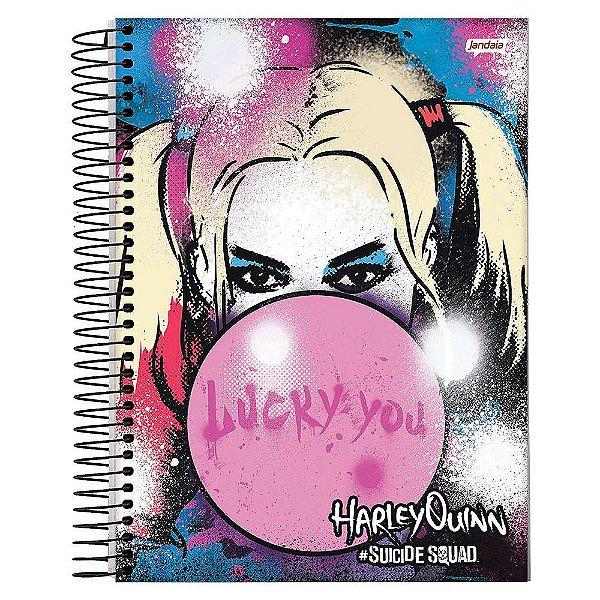 Caderno Esquadrão Suicida - Lucky You - 10 matérias - Jandaia