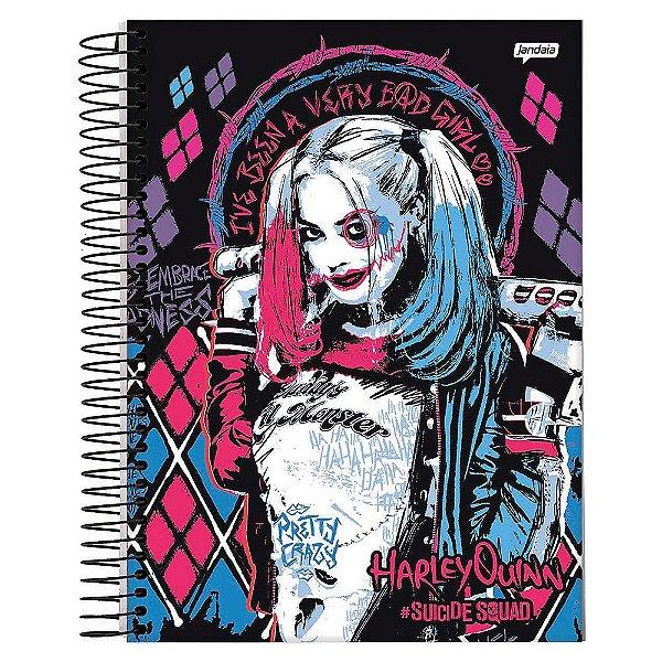 Caderno Esquadrão Suicida - Bad Girl - 10 matérias - Jandaia