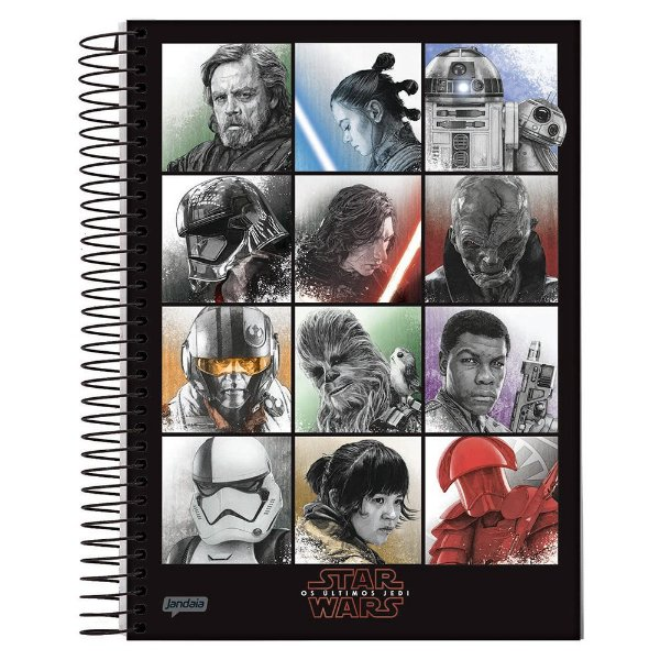 Caderno Star Wars - Personagens - 1 Matéria - Jandaia