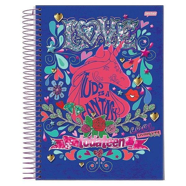 Caderno Toda Teen - Unicórnio - 10 matérias - Jandaia
