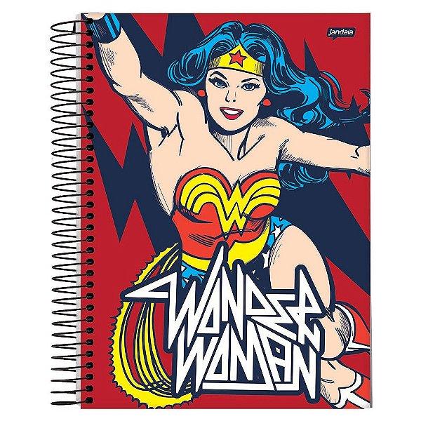 Caderno Mulher Maravilha Vermelho - 10 matérias - Jandaia