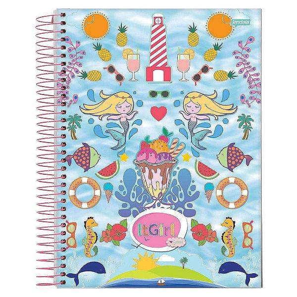 Caderno It Girl- Sereia - 15 Matérias - Jandaia