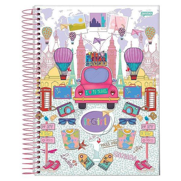 Caderno It Girl- Viagem - 15 Matérias - Jandaia