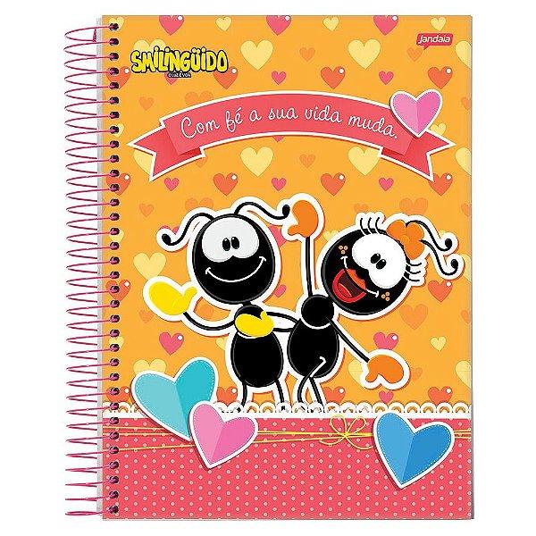 Caderno Smilingüido - Com Fé - 1 matéria - Jandaia