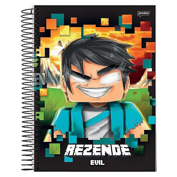 Caderno Rezende Evil - Personagem Minecraft - 1 Matéria - Jandaia