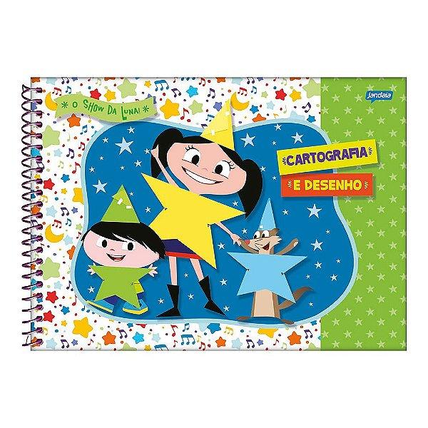 Caderno de Cartografia O Show da Luna - Estrelas - Jandaia