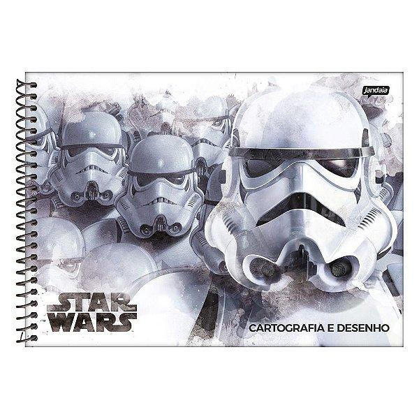 Caderno de Cartografia Star Wars - 96 folhas - Jandaia