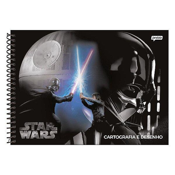Caderno de Cartografia Star Wars Batalha - 96 folhas - Jandaia