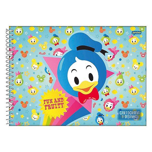 Caderno de Desenho e Cartografia Disney Baby Azul - Jandaia