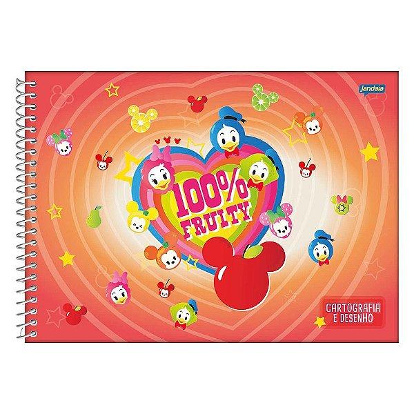 Caderno de Desenho e Cartografia Disney Baby Laranja- Jandaia