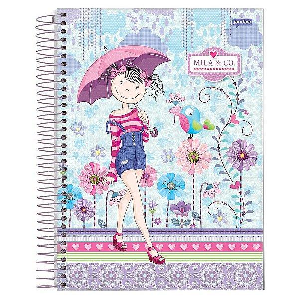 Caderno Mila & Co. - Lilás - 10 Matérias - Jandaia