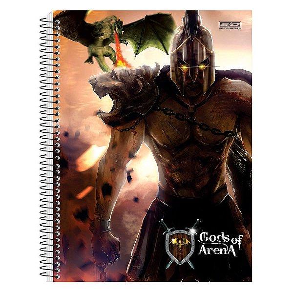 Caderno Gods Of Arena - Gladiador e Dragão - 10 Matérias - São Domingos