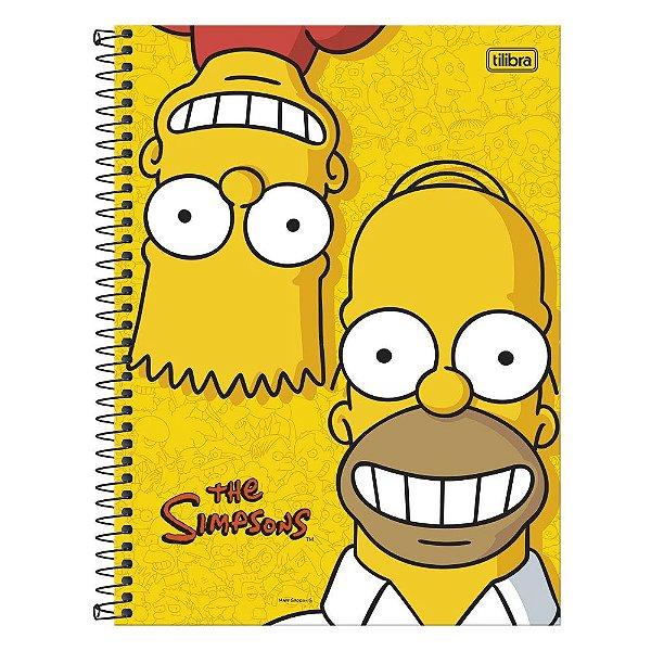 Caderno Os Simpsons - Homer e Bart - 1 matéria - Tilibra