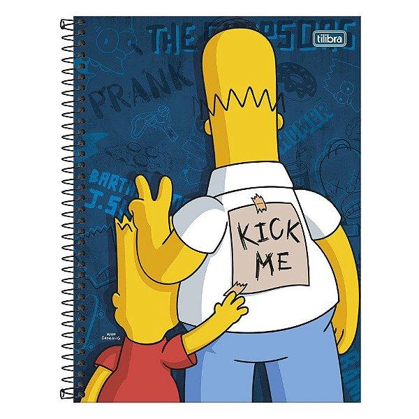 Caderno Os Simpsons - Kick Me - 1 matéria - Tilibra
