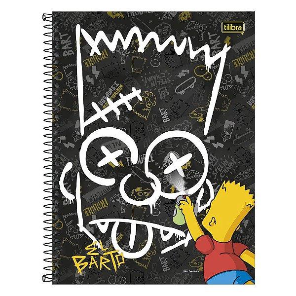 Caderno Os Simpsons - Grafite - 1 matéria - Tilibra