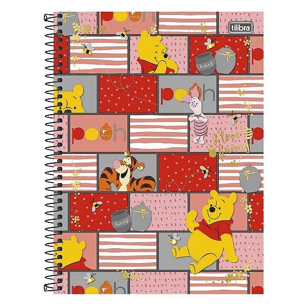 Caderno Pooh - Ursinho Pooh e Amigos - 1 Matéria - Tilibra