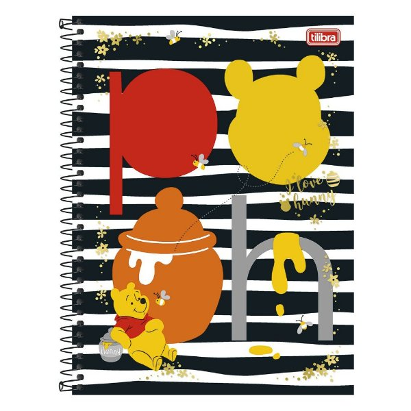 Caderno Pooh - Listrado - 1 Matéria - Tilibra
