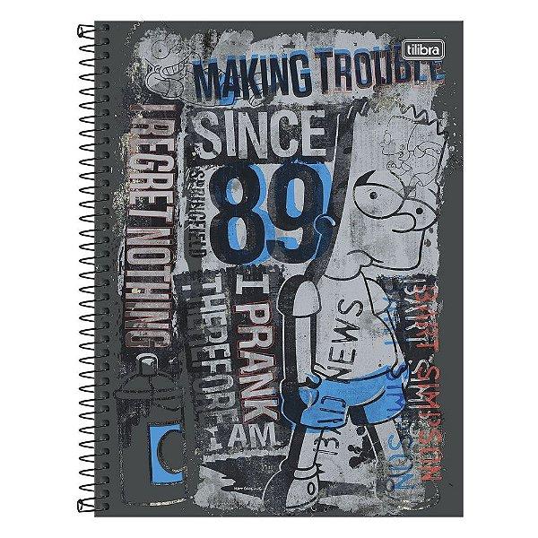 Caderno Os Simpsons - Since 89 - 10 matérias - Tilibra