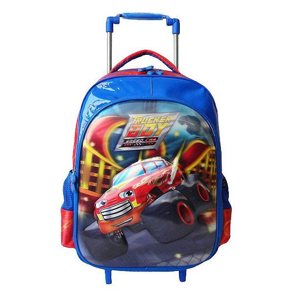 Mochila de Carrinho Trucker Boy Speed Car - Santino