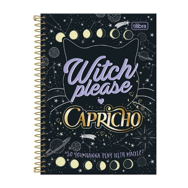 Caderno Capricho Witch Please - 1 matéria - Tilibra