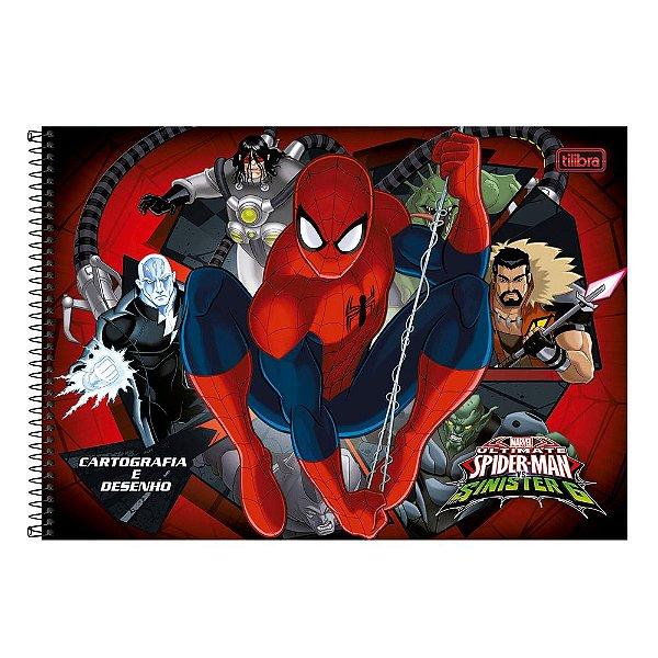 Caderno de Desenho - Homem Aranha VS Sinister 6 - 96 folhas
