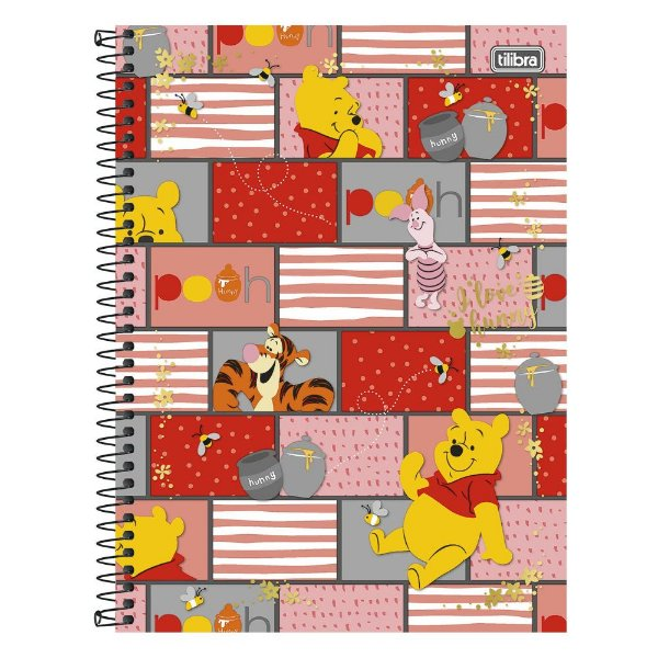Caderno Pooh - Ursinho Pooh e Amigos - 10 Matérias - Tilibra