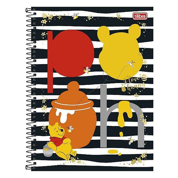Caderno Pooh - Listrado - 10 Matérias - Tilibra