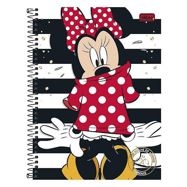 Caderno Minnie e Listras - 1 matéria - Tilibra