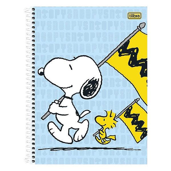 Caderno Snoopy - Bandeiras - 1 matéria - Tilibra