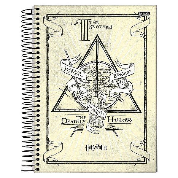 Caderno Harry Potter - Relíquias da Morte - 10 Matérias - Jandaia