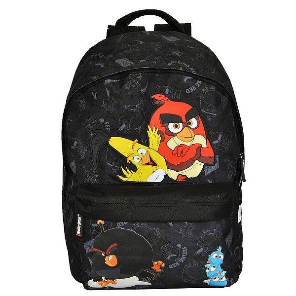 Mochila Angry Birds Preta Detalhada - Santino