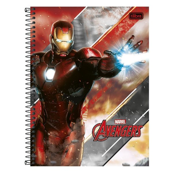 Caderno Avengers - Homem de Ferro - 1 Matéria - Tilibra