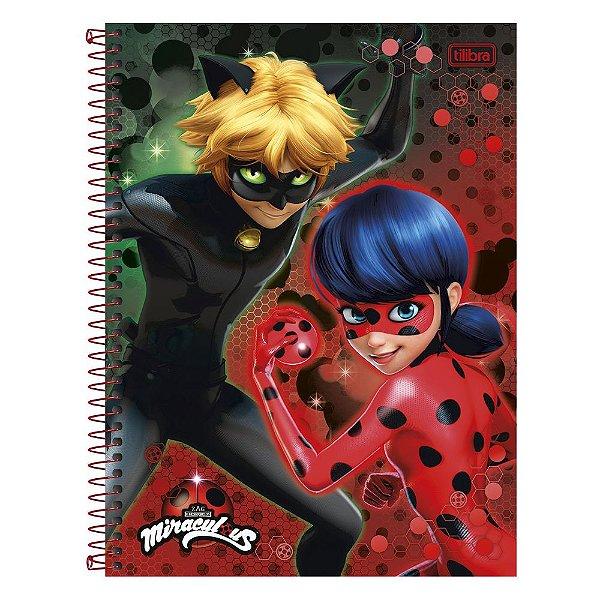 Caderno Miraculous Ladybug - Dupla - 1 matéria