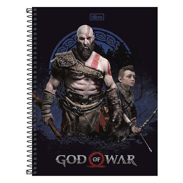 Caderno God Of War - Kratos - 1 Matéria - Tilibra