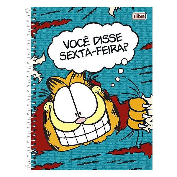 Caderno Garfield - Sexta Feira? - 1 Matéria - Tilibra