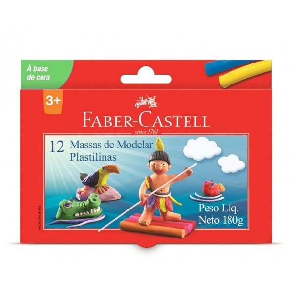 Massa de Modelar  - 12 massinhas - Faber Castell