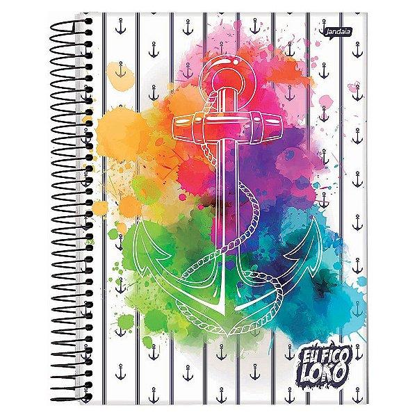 Caderno Eu Fico Loko - Âncora Aquarela  - 10 Matérias - Jandaia