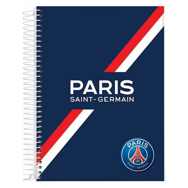 Caderno Paris Saint-Germain - Paris Azul - 10 Matérias - Jandaia