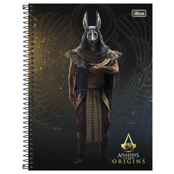 Caderno Assassins Creed Origins - Anubis - 10 Matérias - Tilibra
