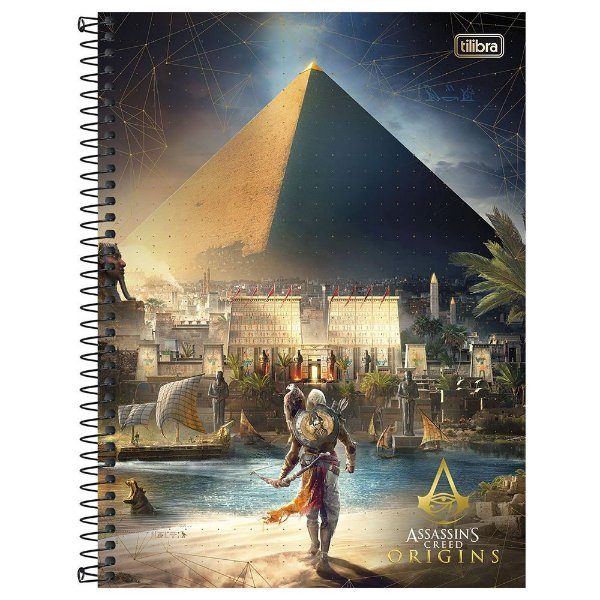 Caderno Assassins Creed Origins - Egito - 10 Matérias - Tilibra