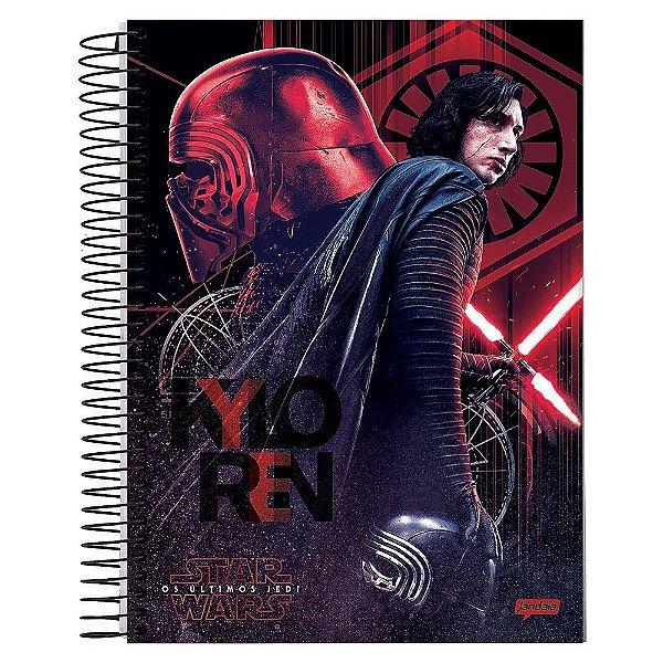 Caderno Star Wars Os Últimos Jedi - Kylo Ren - 10 Matérias - Jandaia