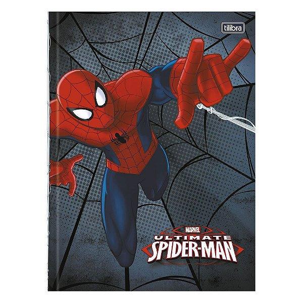 Caderno Brochura Ultimate Spider Man - Cinza - 96 Folhas - Tilibra