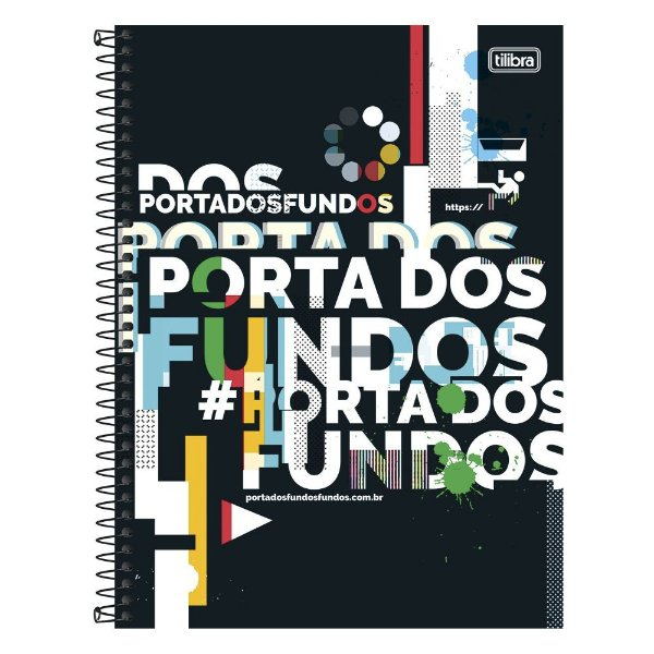 Caderno Porta dos Fundos - 1 matéria - Tilibra