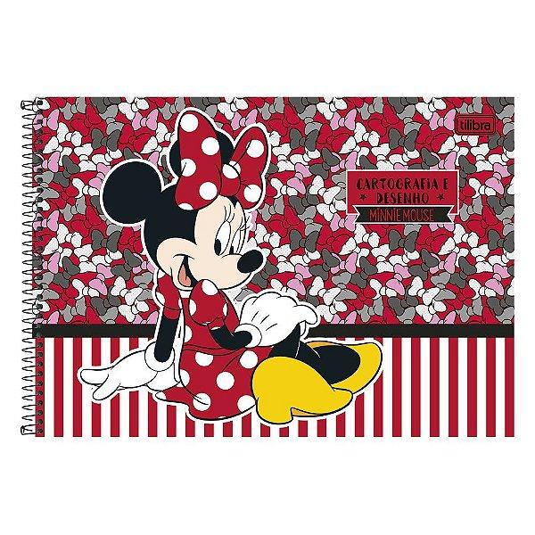 Caderno de Desenho - Minnie  - 96 Folhas - Tilibra