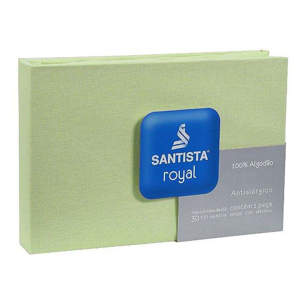 Lençol de Solteiro Royal Liso - Verde Claro - Santista