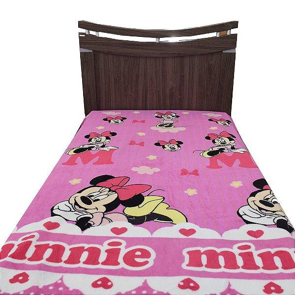 Manta de Microfibra Solteiro Soft - Minnie Mouse - Jolitex