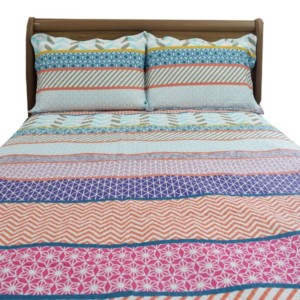 Kit Colcha Bouti Ultrassom Quilting Casal Dupla Face - Lecce - Dyuri