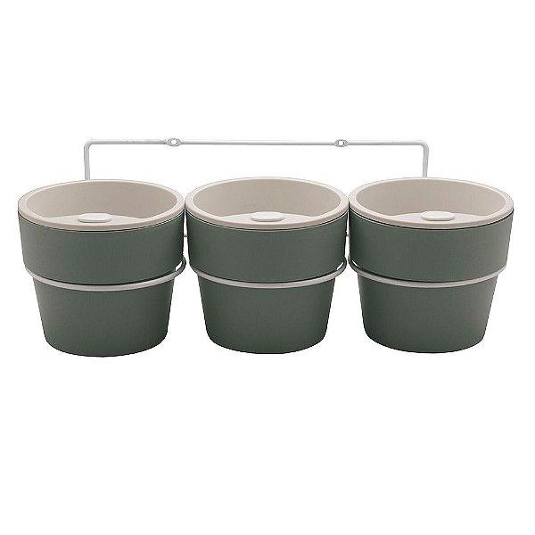 Conjunto de Vasos para Horta em Casa - Chumbo - Ou