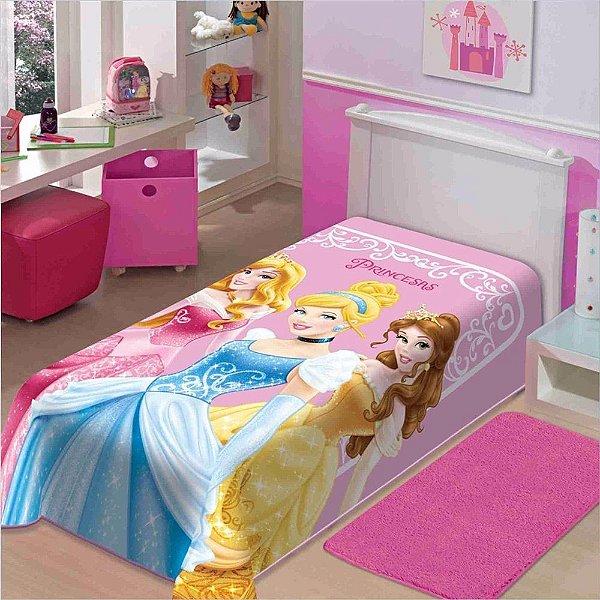 Cobertor Infantil Raschel - Princesas da Disney - Jolitex