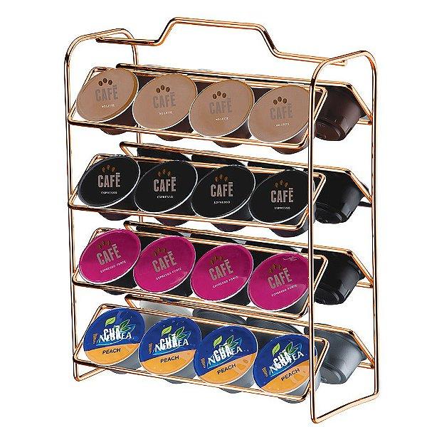 Organizador Para Cápsulas De Café Dolce Gusto - Rose Gold